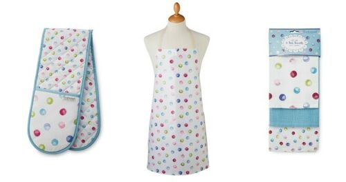 Cooksmart Spotty Dotty Double, Oven Glove, Tea Towels Or Apron